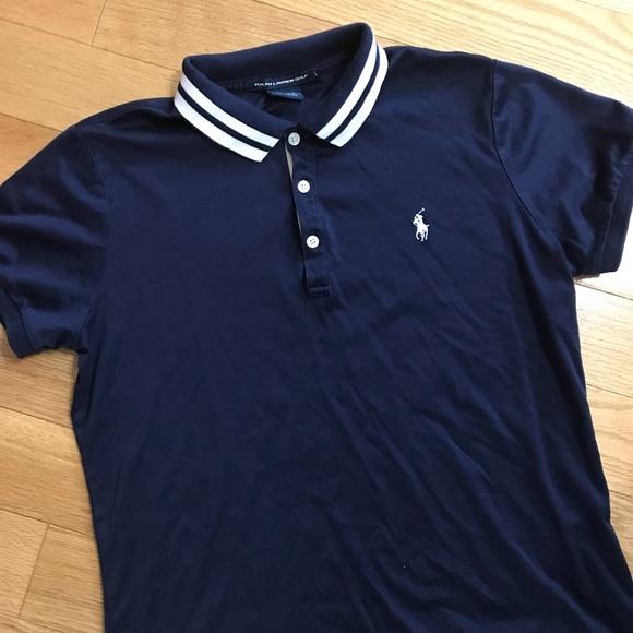 Women ralph lauren polo golf t-shirt size L navy